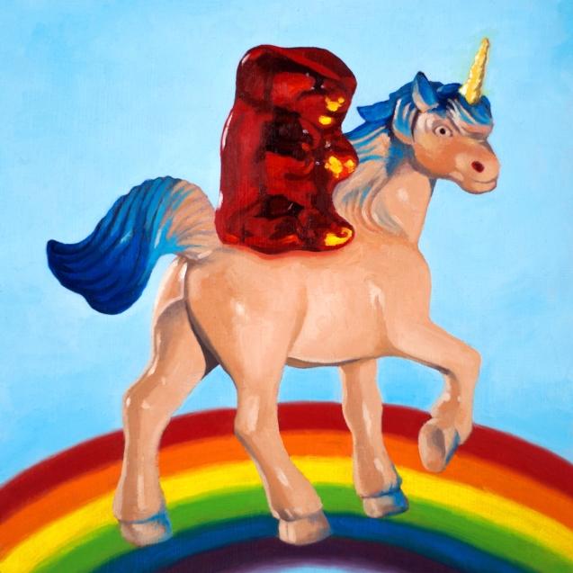 Gummy and Unicorn by Roxanne Patruznick