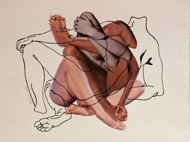 untitled (recline) by Trissa Dodson, Collage Drawing 2015
